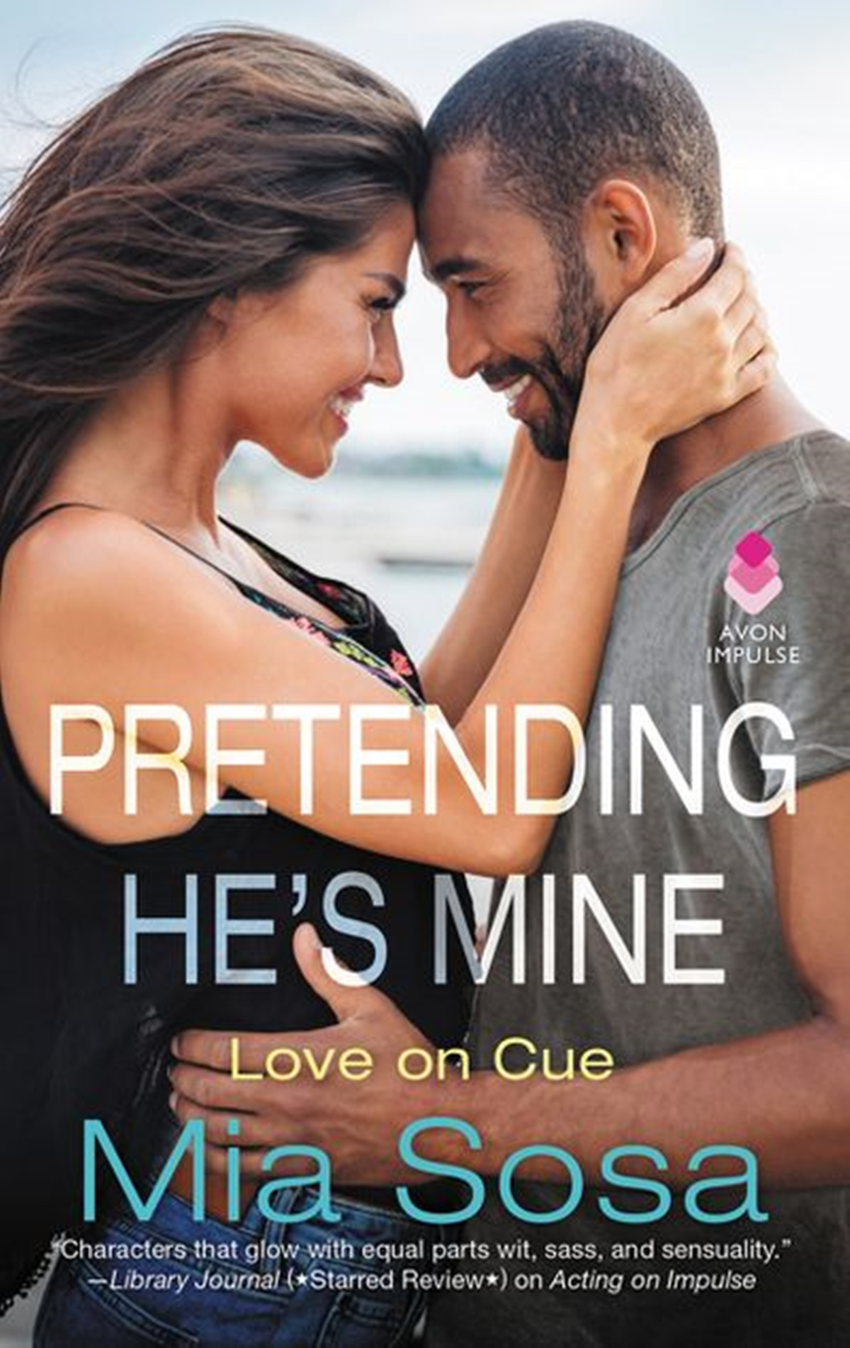 Fake Relationship Romance Novels, cover of Pretending He's Mineb by Mia Sosa, books