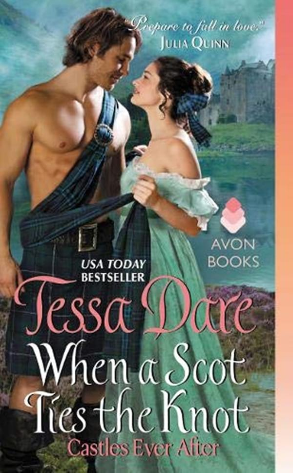 Fake Relationship Romance Novels, cover of When a Scot Ties the Knot by Tessa Dare, books