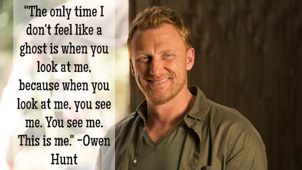 Owen Hunt relationship quote from Grey's Anatomy