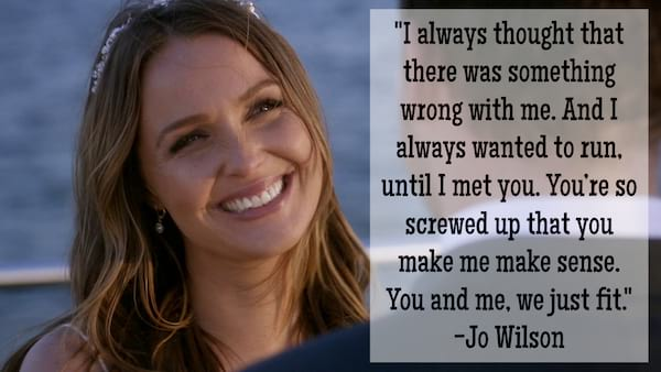 Jo Wilson quote about two people belonging together