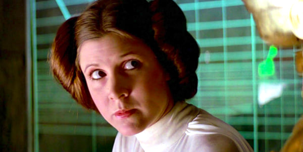 movies, star wars, 1977, carrie fisher as princess leia, AMC