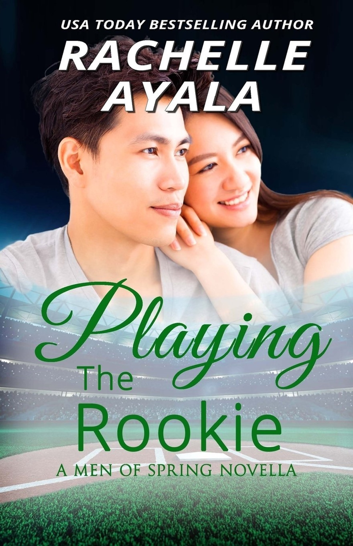 Baseball Romance Novels, cover of Playing the Rookies by Rachelle Ayala, books