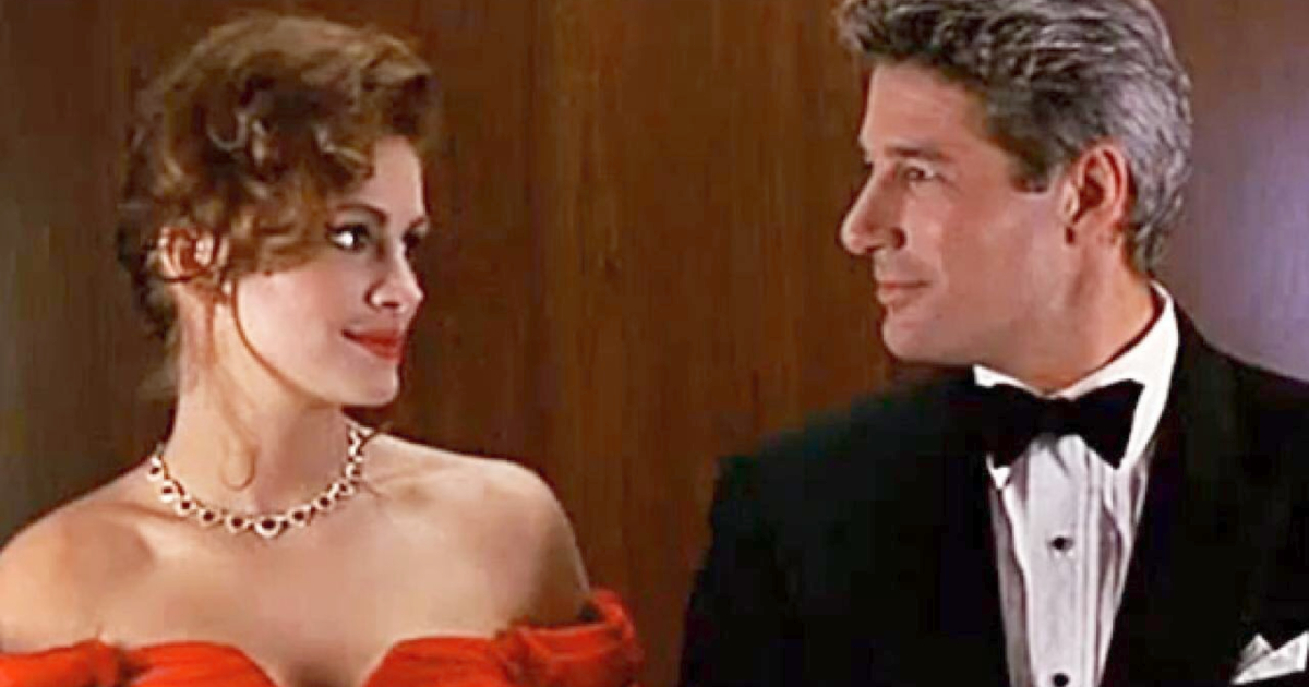 Julia Roberts and Richard Gere on a romantic date in Pretty Woman