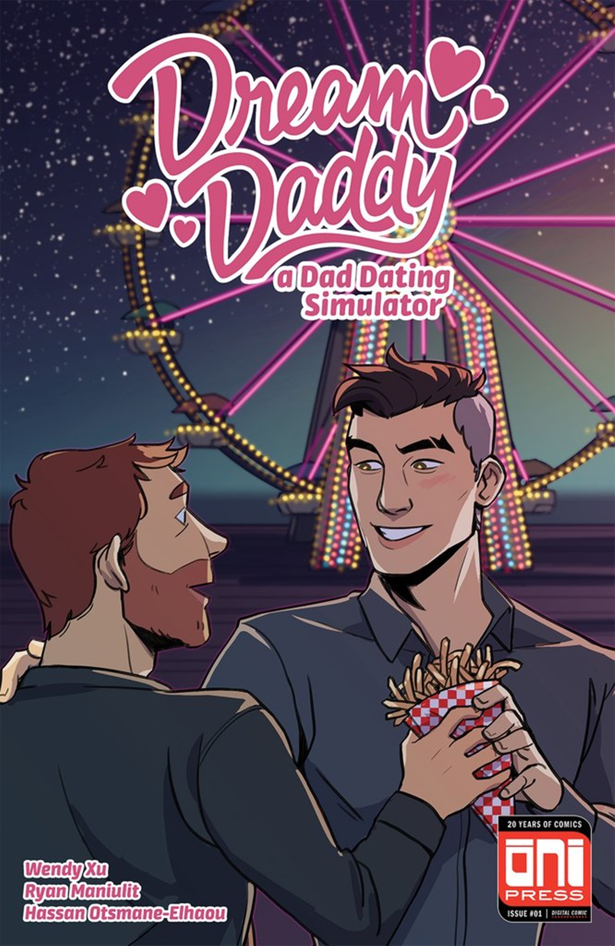 Romance Comics, cover of Dream Daddy comic by various authors, books