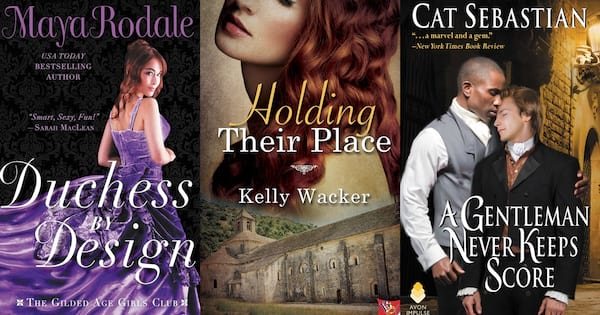 Historical Romance Novels, the covers of three historical romance novels, books