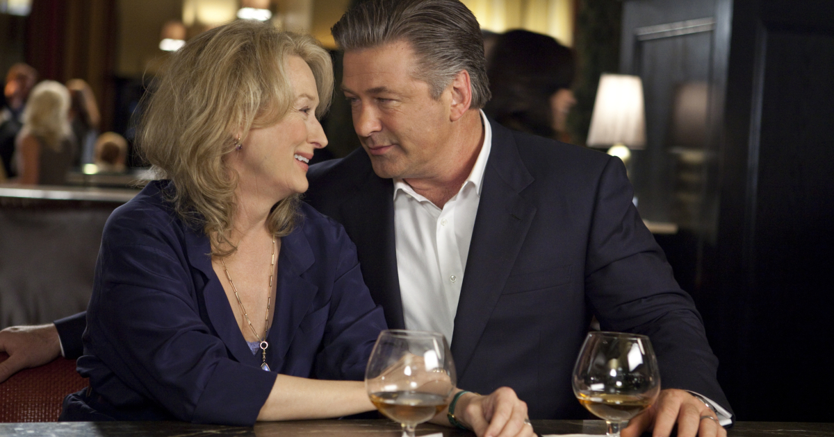 Meryl Streep and Alec Baldwin on a date in It's Complicated