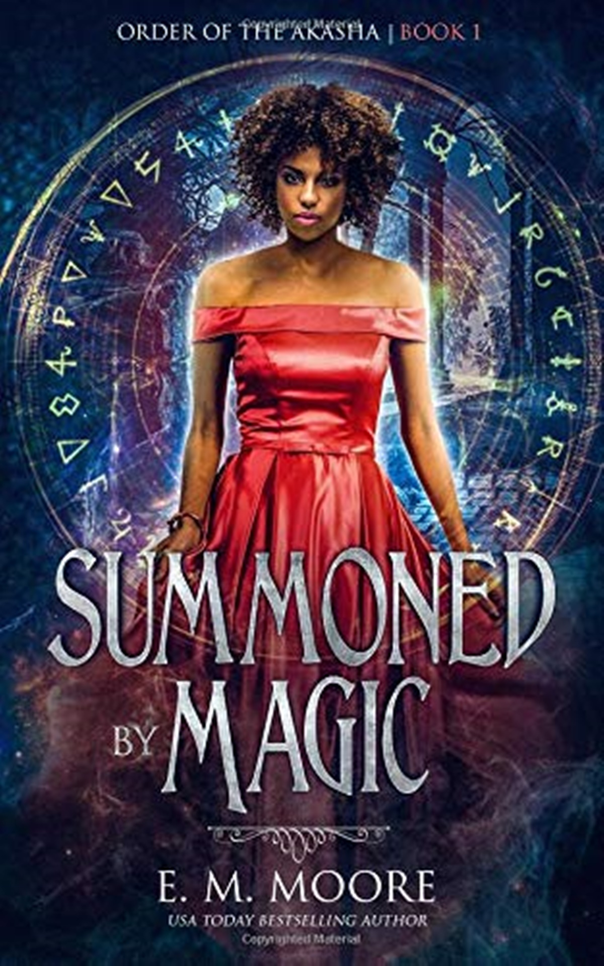 Polyamorous Romance Novels, cover of Summoned By Magic by E.M. Moore, books