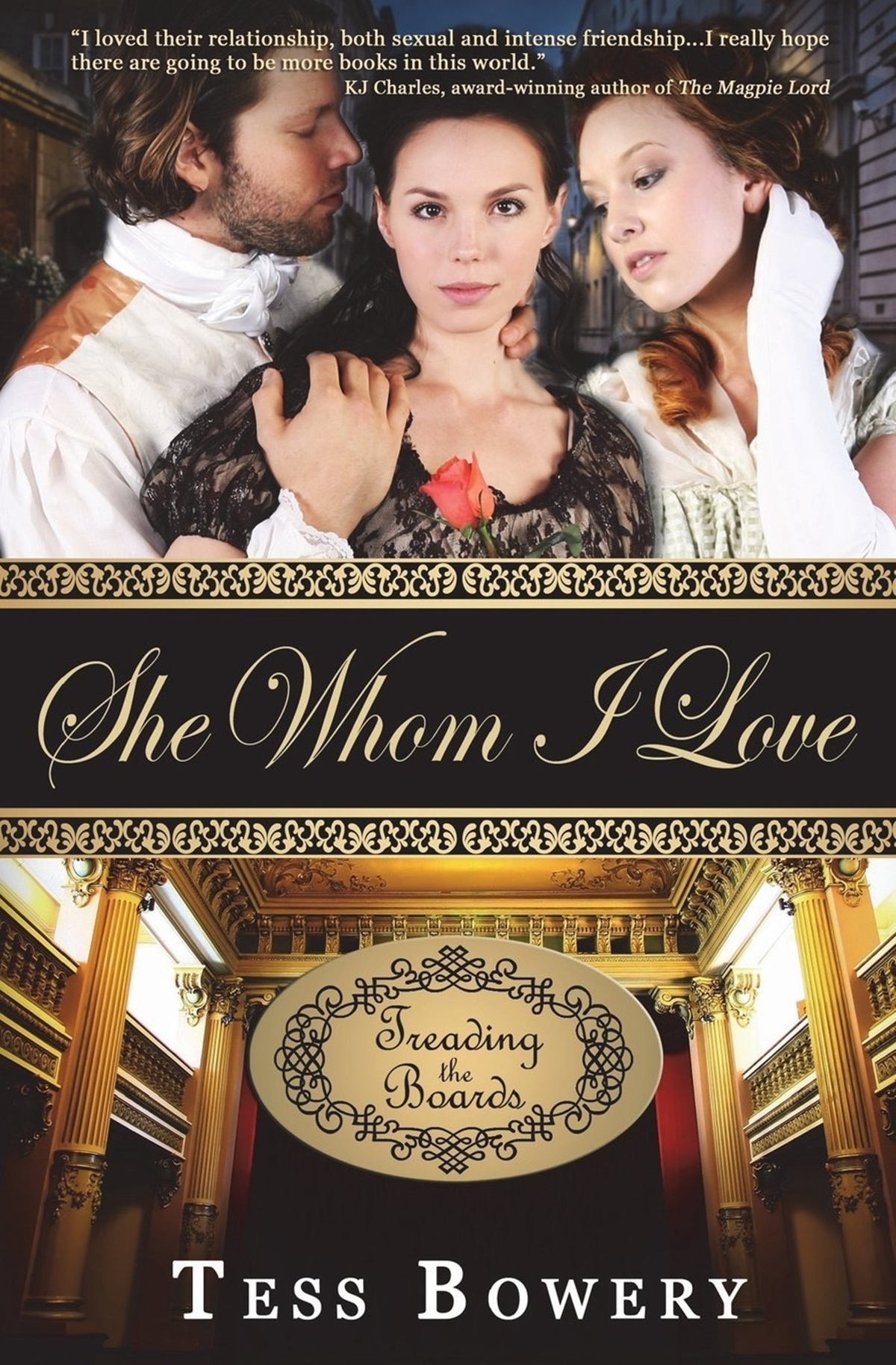 Polyamorous Romance Novels, cover of She Whom I Love by Tess Bowery, books