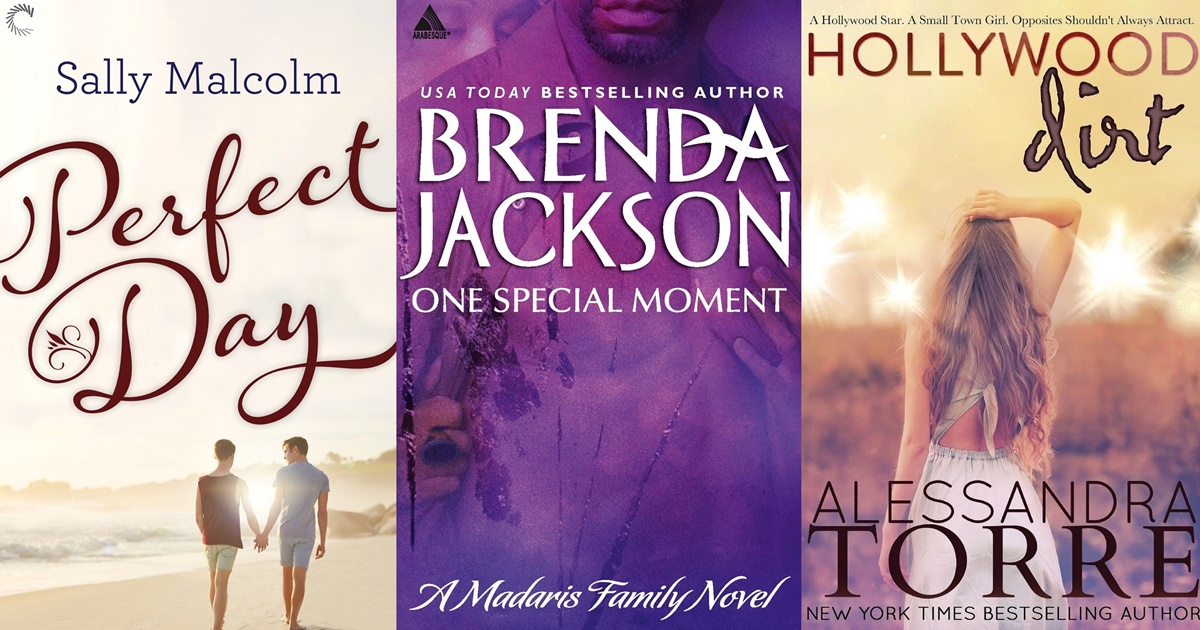 Romances About Actors, three book covers with romances about actors, books