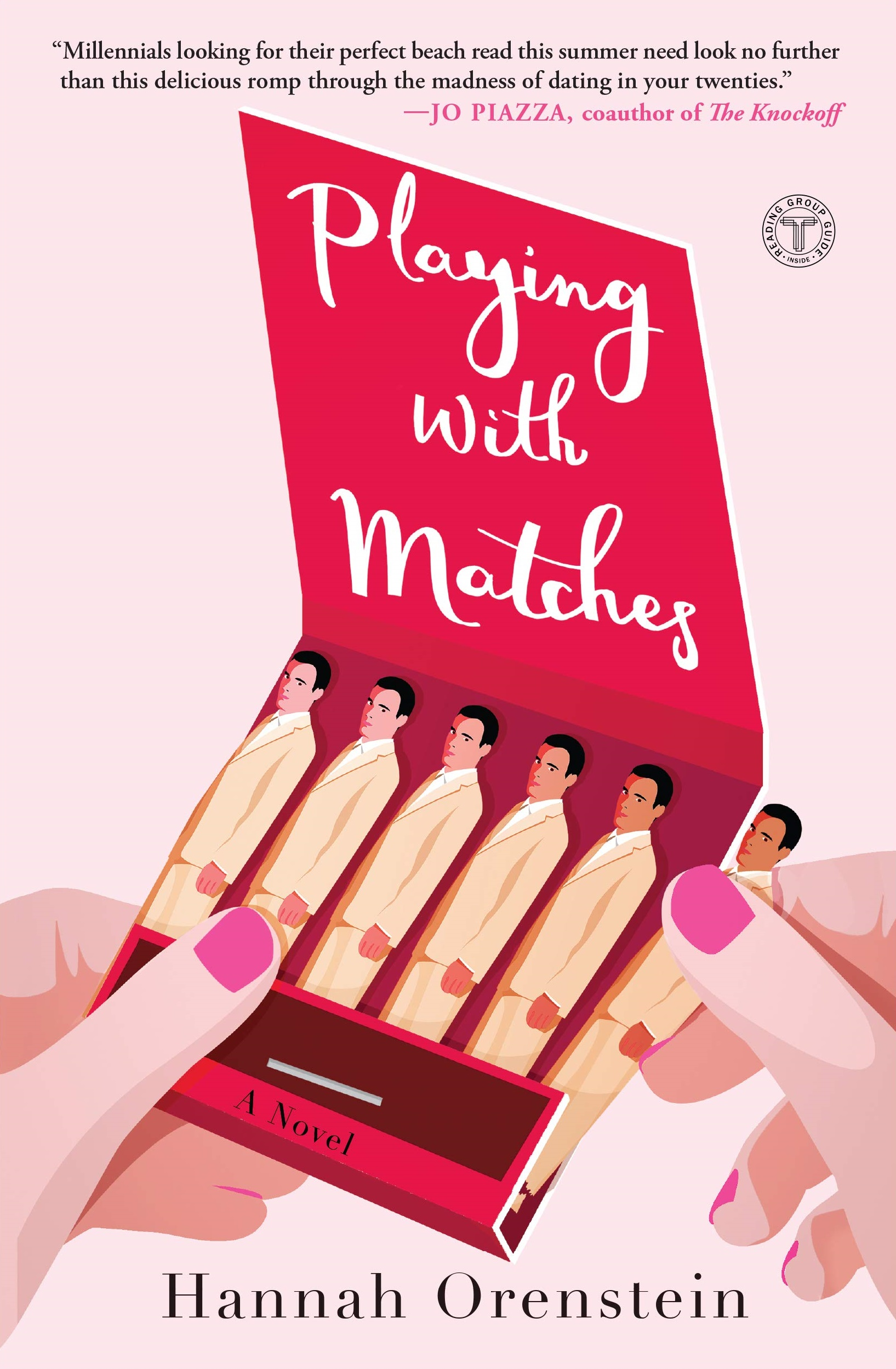 Romance Books Like The Bold Type, cover of Playing With Matches by Hannah Orenstein, books