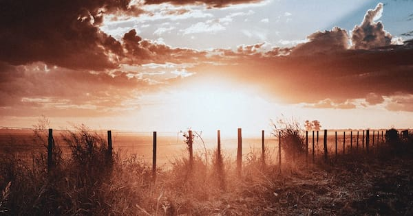 Inspirational Poetry Quotes, image of a field with a fence running through it, books, wdc-slideshow