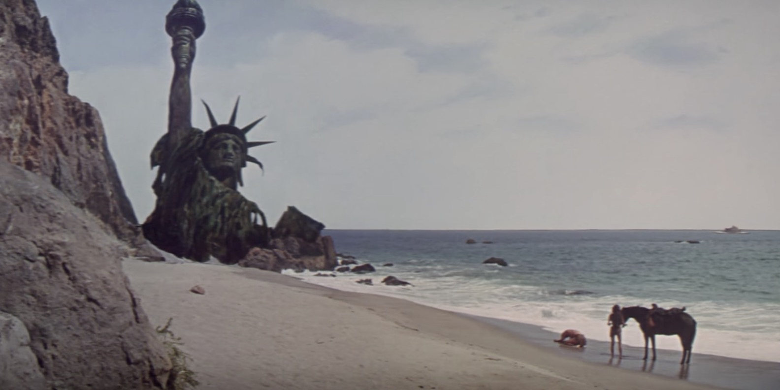 sci-fi movie end scene, movies, planet of the apes