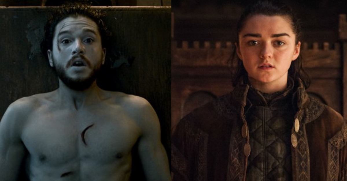 tv, game of thrones, jon snow, arya stark