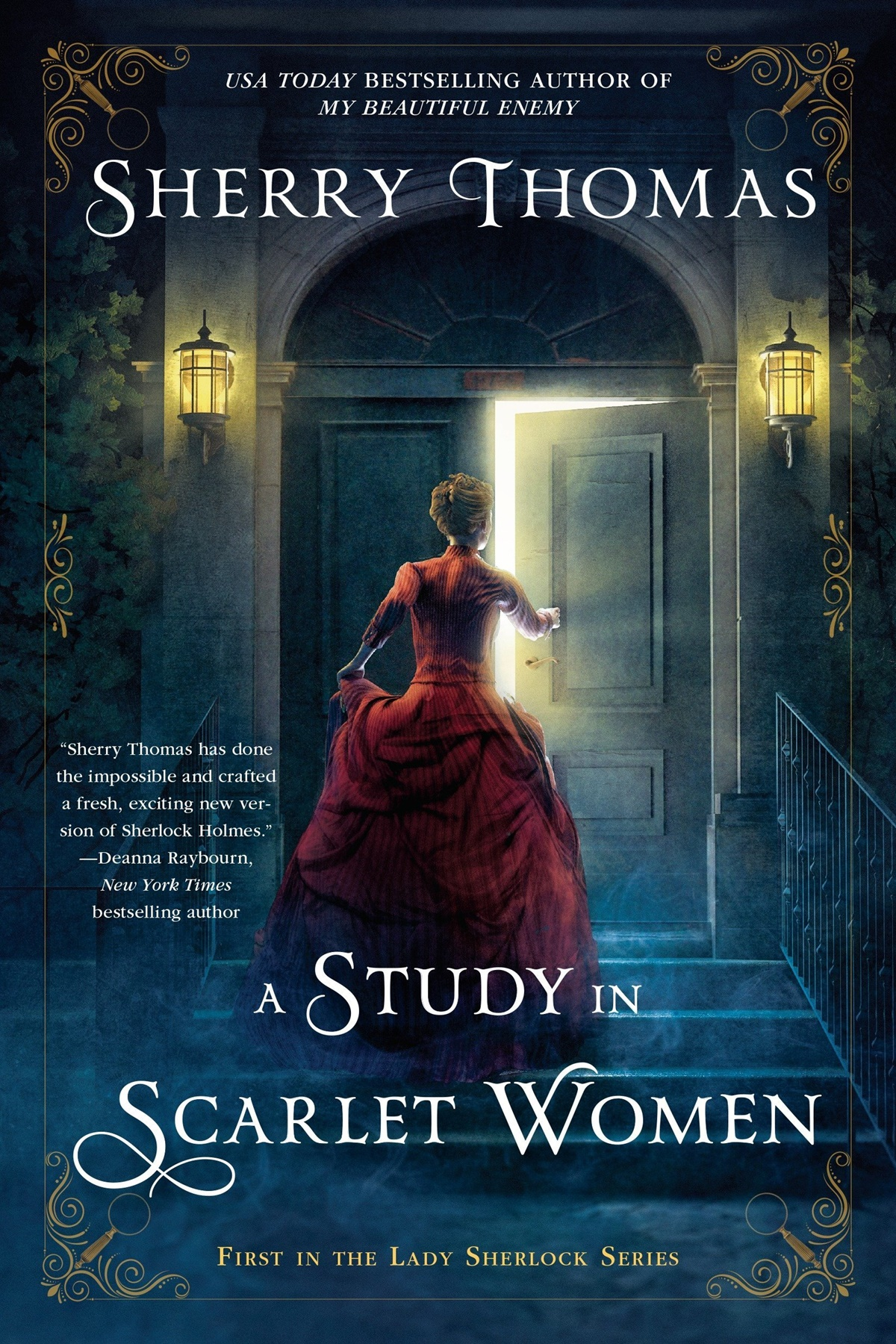 Romantic Retellings, cover of A Study in Scarlet by Sherry Thomas, books