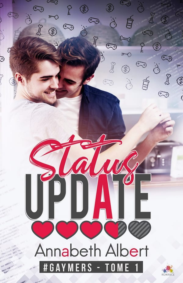 Geeky Romance Novels, cover of Status Update by Annabeth Albert, books