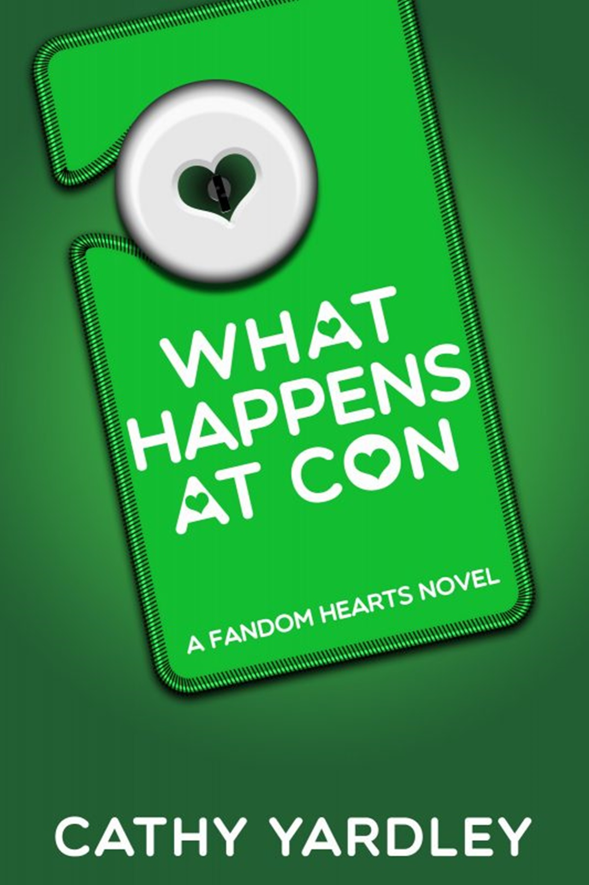 Geeky Romance Novels, cover of What Happens at a Con by Cathy Yardley, books