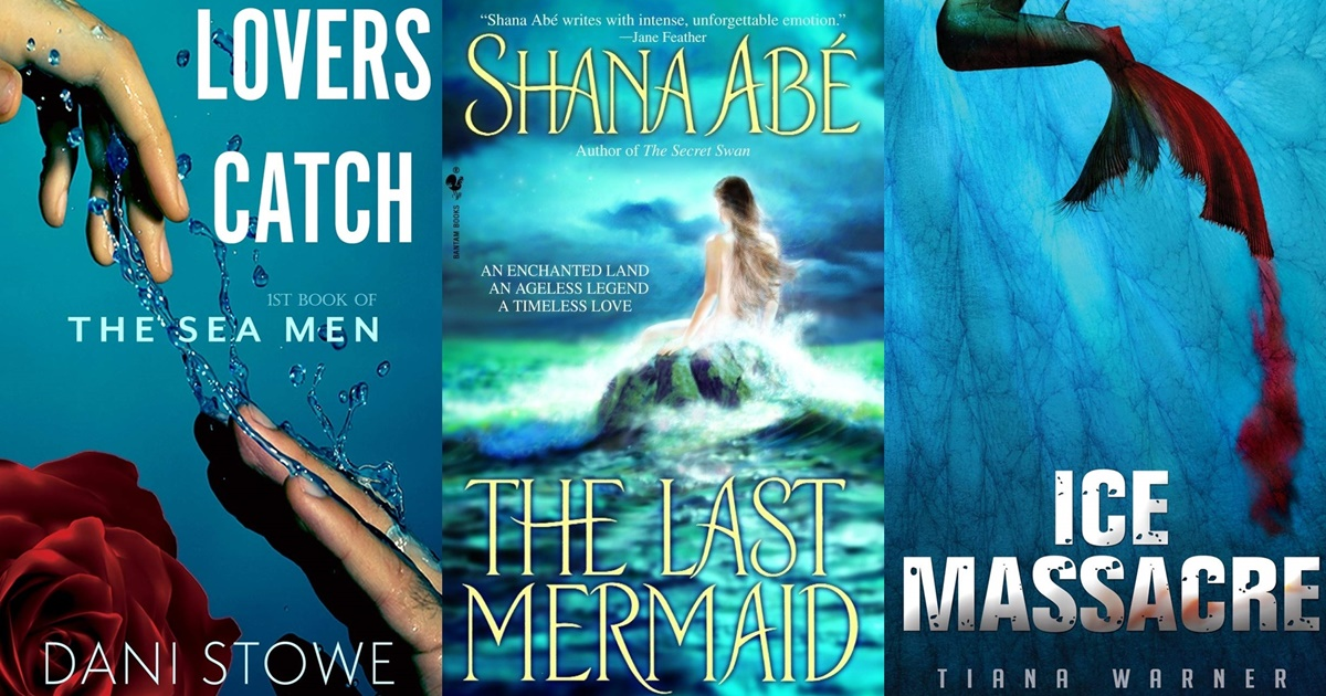 Books Like Siren, three book covers of books about mermaids, books