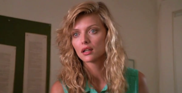 Michelle Pfeiffer, The Witches of Eastwick, smart, shocked, blond, hero
