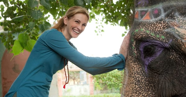 Julia Roberts with an elephant in 'Eat Pray Love'