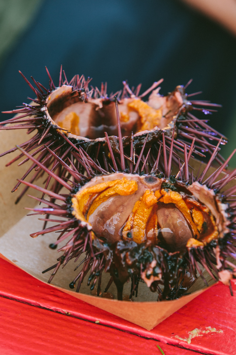 Sea urchin cuisine at the L.A. Times Food Bowl