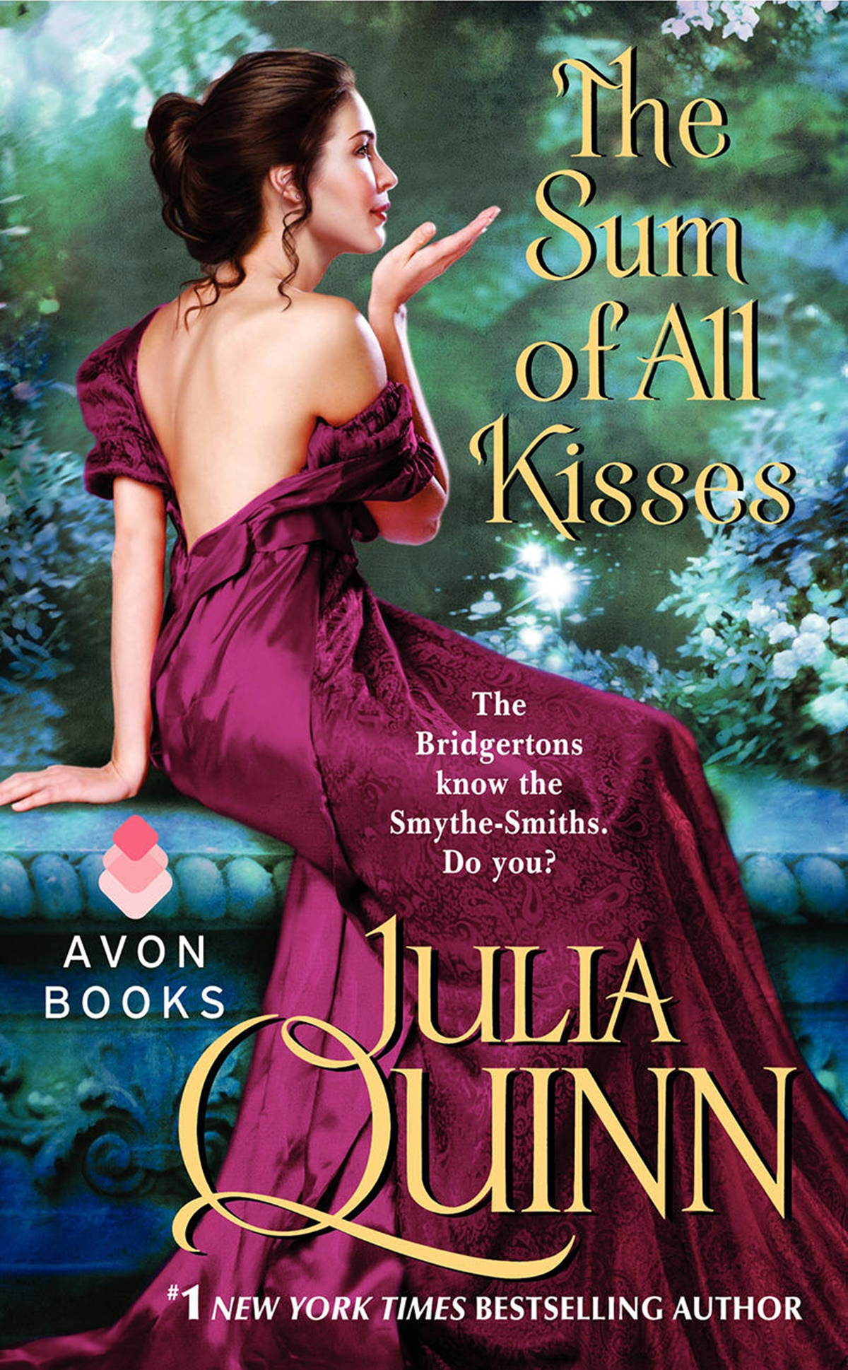 Julia Quinn Books, cover of The Sum of All Kisses by Julia Quinn, books