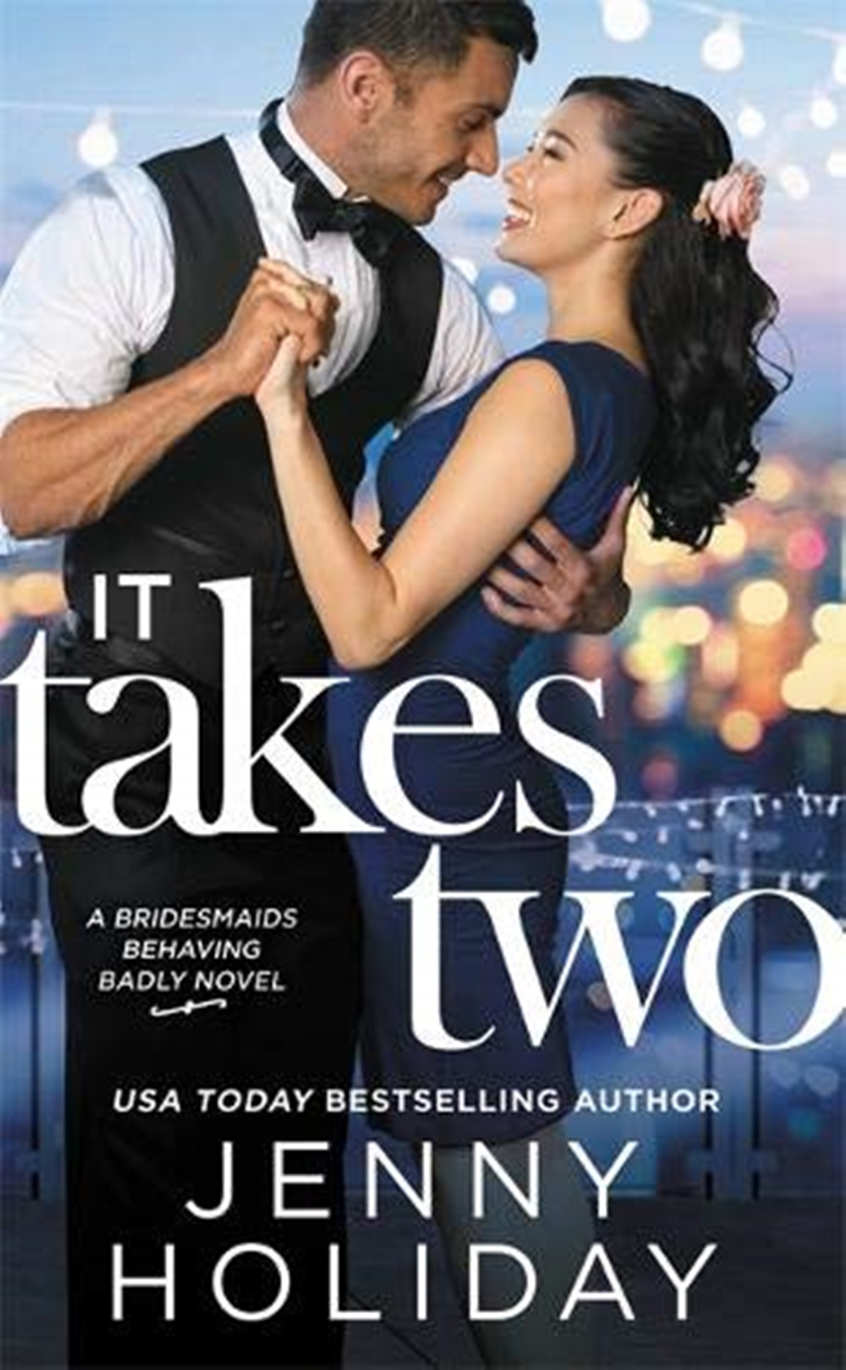 Happy Romance Novels, cover of It Takes Two by Jenny Holiday, books