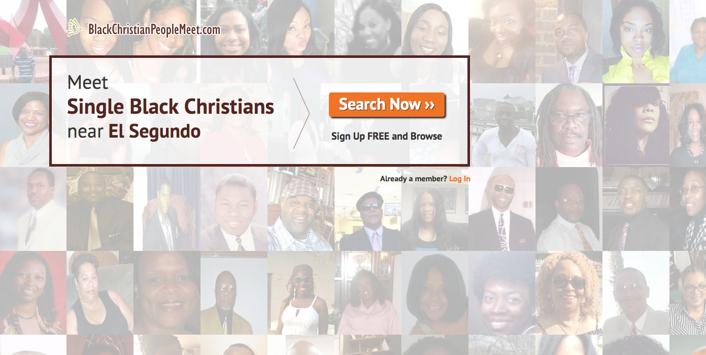 Homepage for black Christian dating site BlackChristianPeopleMeet.com