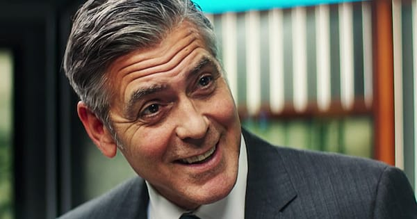 George Clooney astonished in a scene from Money Monster