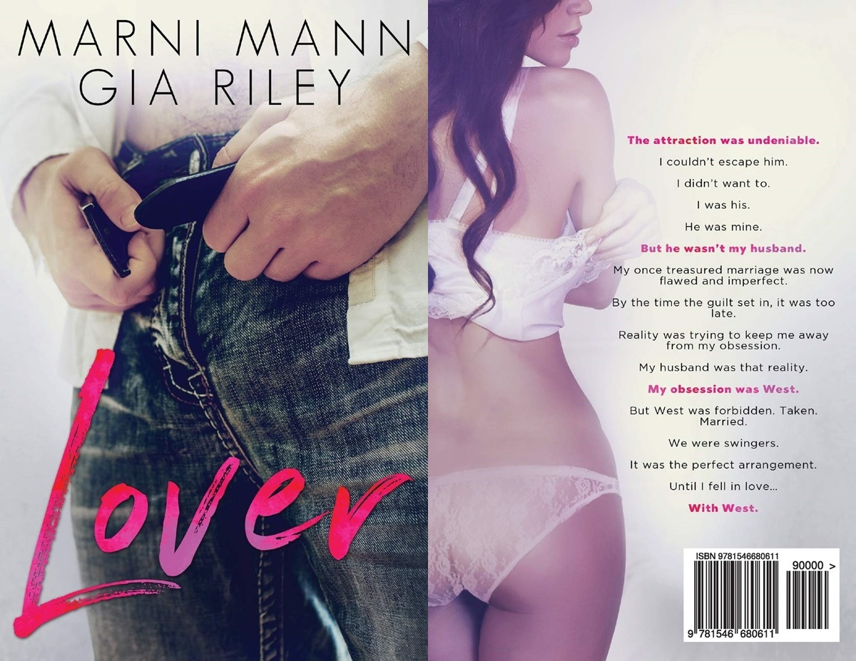 Romance Novels About Affairs, cover of Lover by Marni Mann and Gia Riley, books