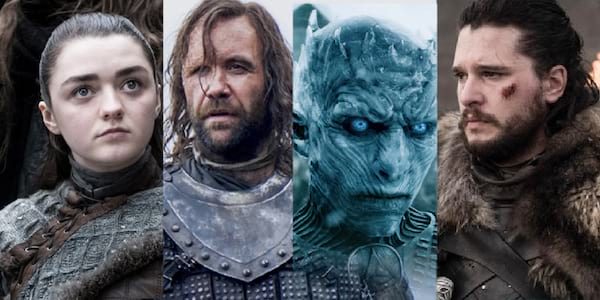 Game of thrones characters, Game of Thrones quiz, GOT characters, arya stark, the night king, jon snow