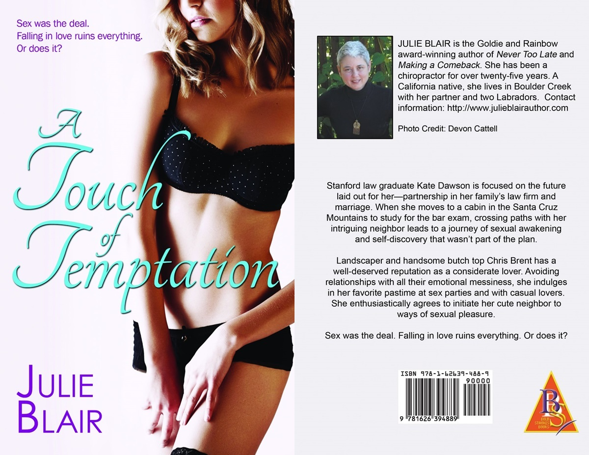 Sexy Romance Novels, cover of A Touch of Temptation by Julie Blair, books