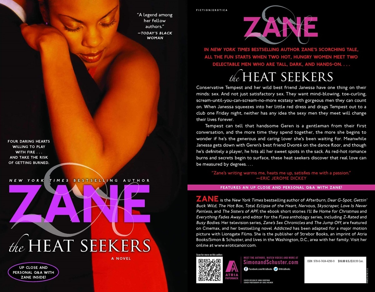 Sexy Romance Novels, cover of The Heat Seekers by Zane, books