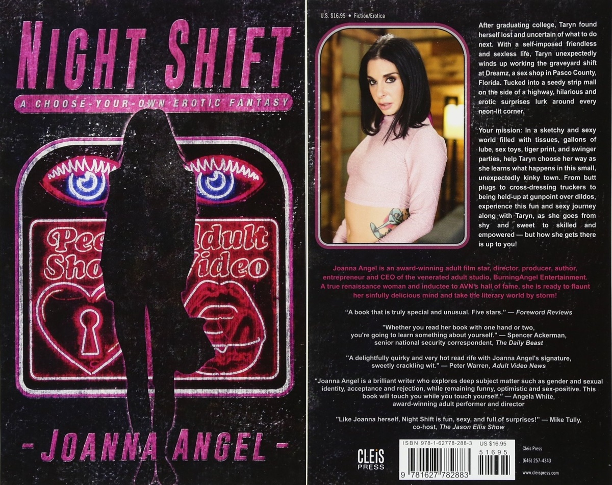 Sexy Romance Books, cover of Night Shift: A Choose-Your-Own Erotic Fantasy by Joanna Angel, books