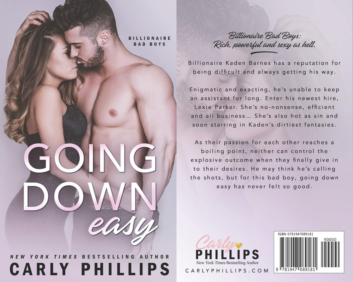 Sexy Romance Novels, cover of Going Down Easy by Carly Phillips, books