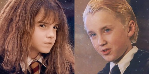 draco and hermione, draco malfoy, hogwarts first year, muggle of wizard harry potter quiz