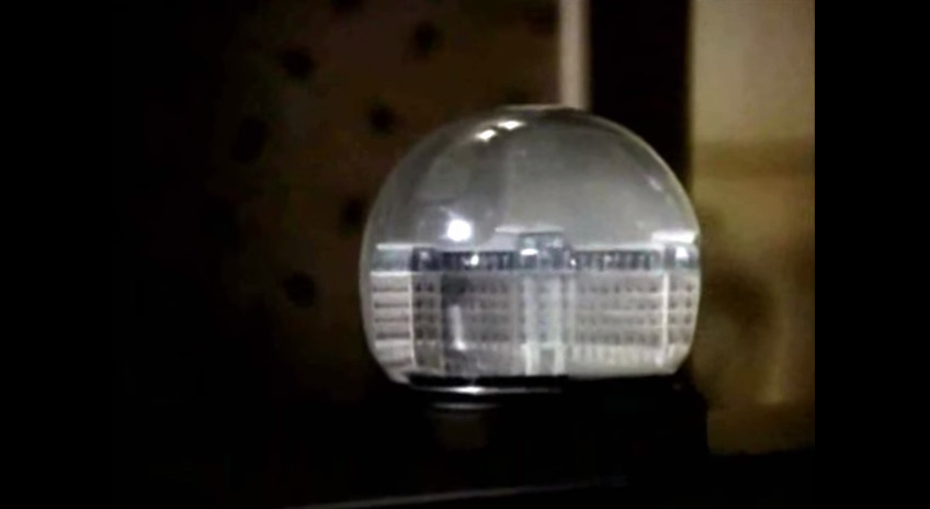 The snow globe holding the hospital that was the setting for American medical drama 'St. Elsewhere'