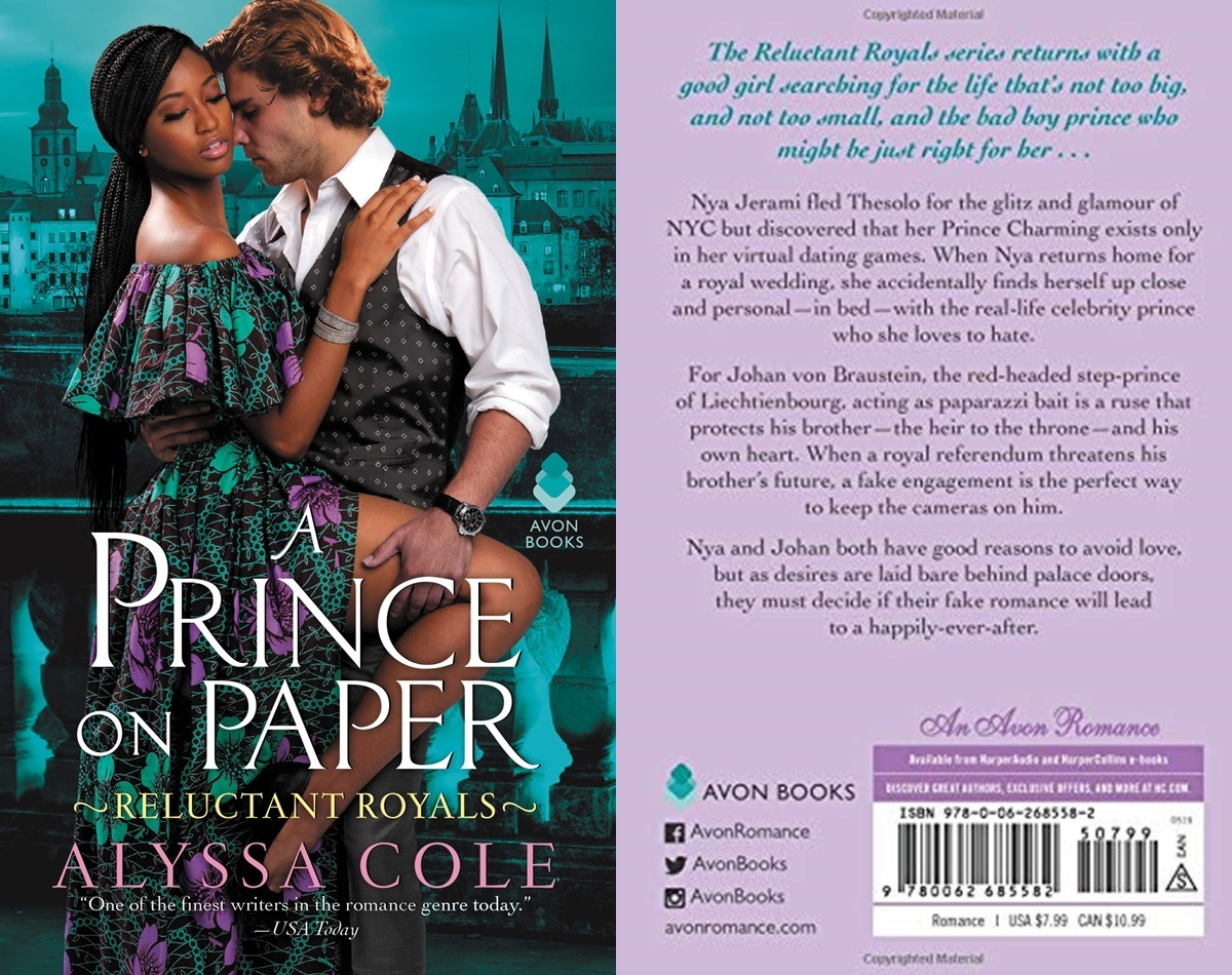 Royal Romance Novels, cover of A Prince on Paper by Alyssa Cole, books