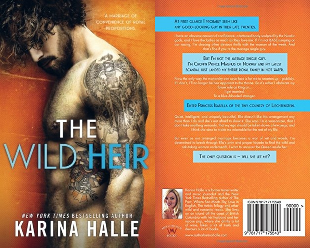 Royal Romance Novels, cover of The Wild Heir by Karina Halle, books