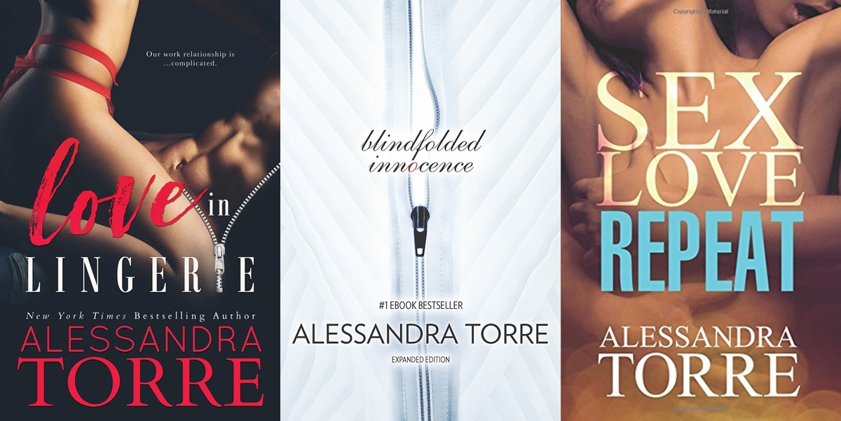 Erotica Authors, cover of three books by Alessandra Torre, books