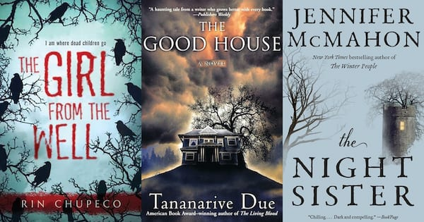 books, three books by female horror authors, Female Horror Authors
