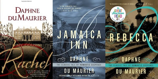 books, three books by Daphne du Maurier, Female Horror Authors