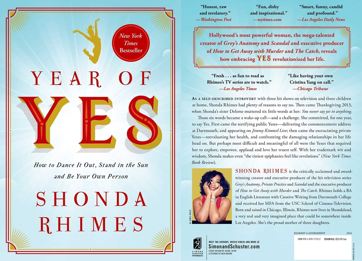 Books For Women Over 50, cover of year of yes by shonda rhimes, books