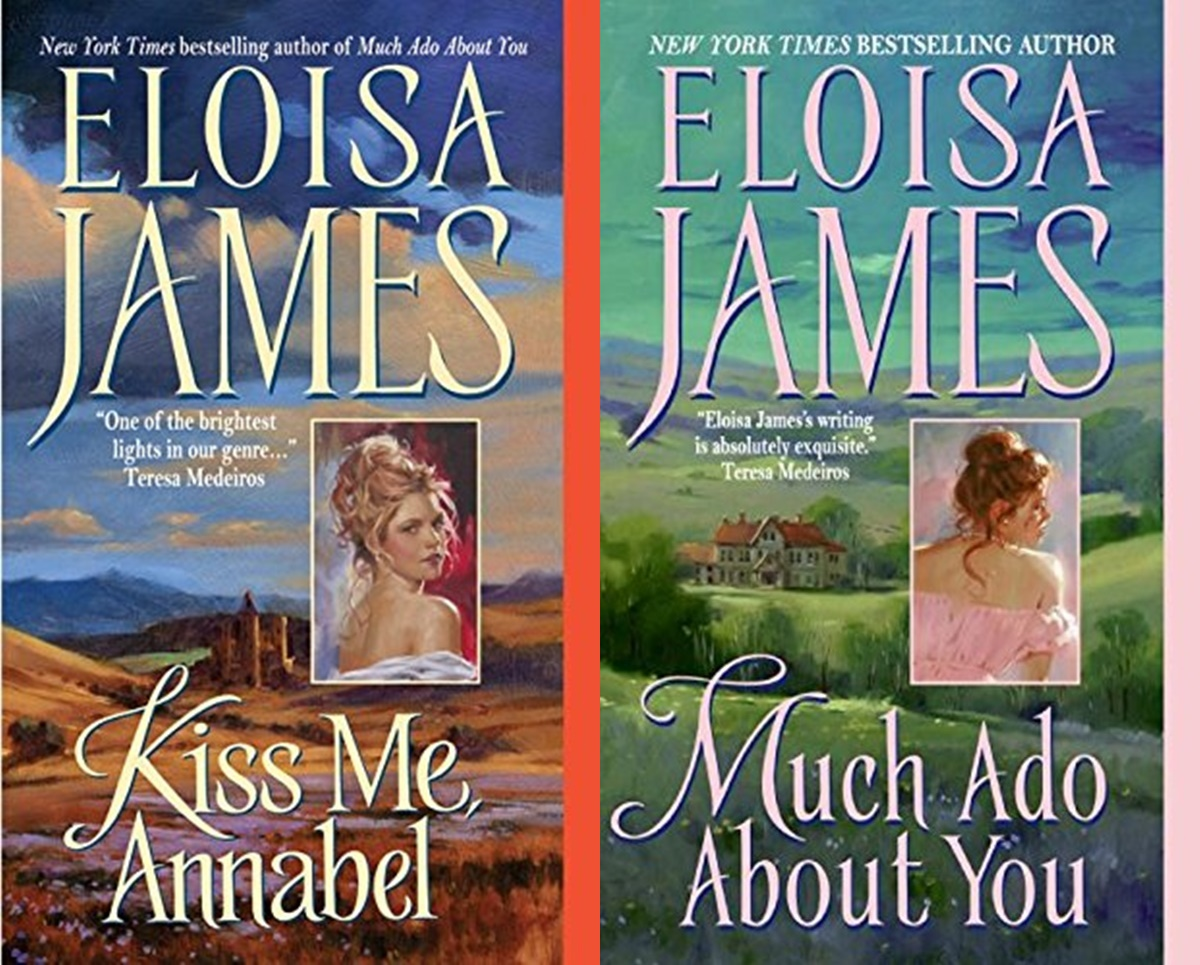 Female Friendships in Romance, two books from the Essex Sister series by Eloisa James, books