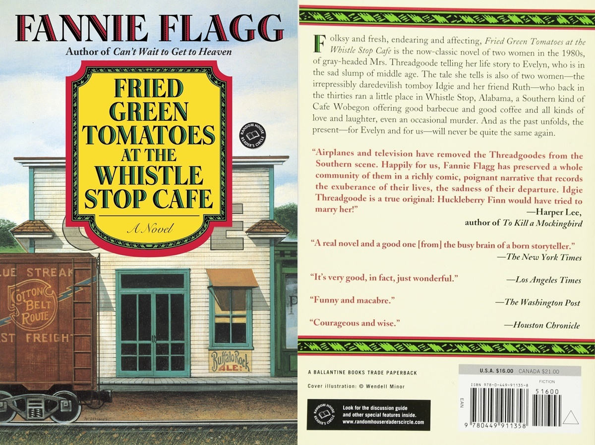 books for people who don't like reading, cover of fried green tomatoes at the whistle stop cafe by fannie flagg, books