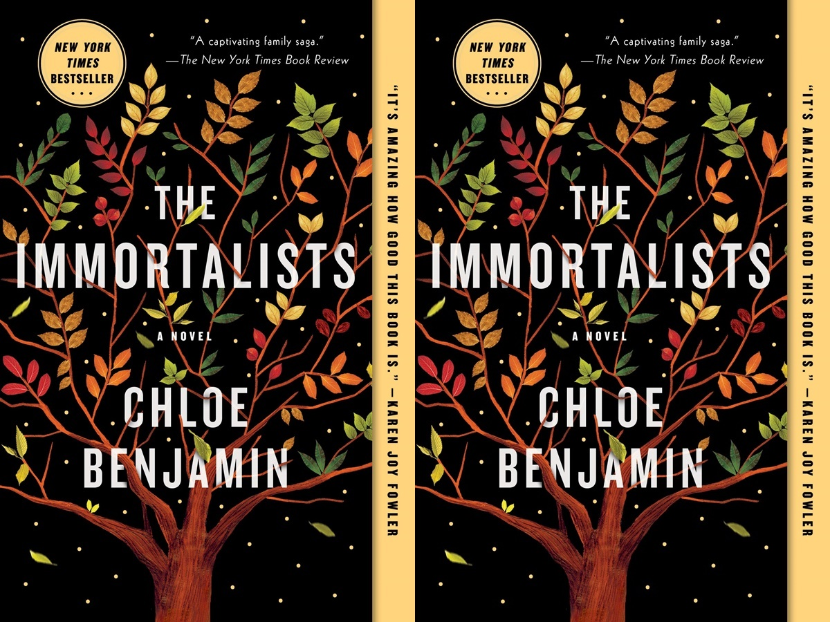books for people who don't like reading, cover of the immortalist by chloe benjamin, books