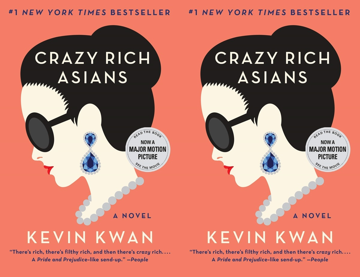 books for people who don't like reading, cover of crazy rich asians by kevin kwan, books
