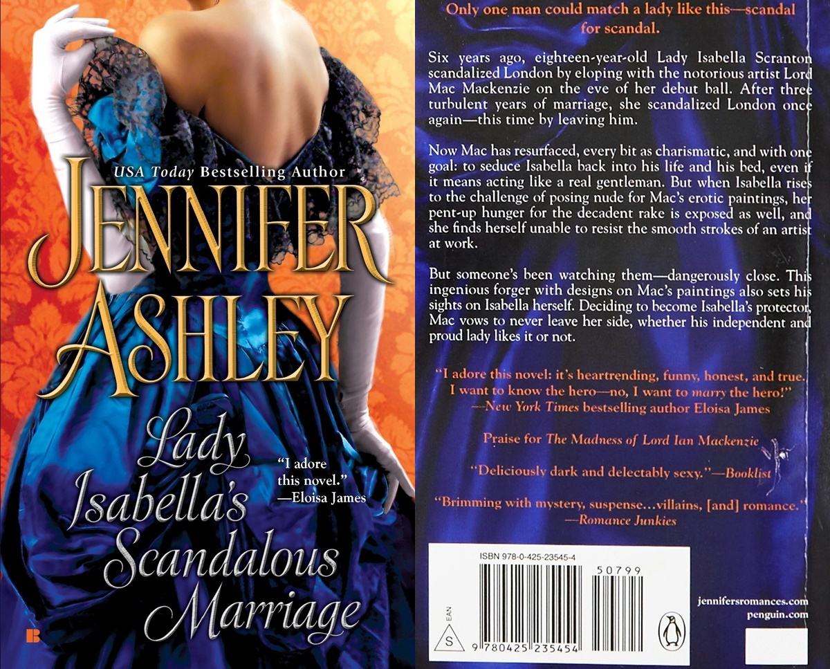 second chance romance, cover of lady isabella's scandalous marriage by jennifer ashley, books