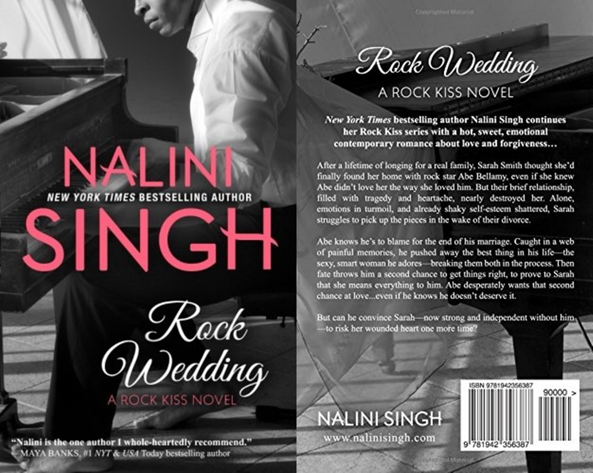 second chance romance, cover of rock wedding by nalini singh, books