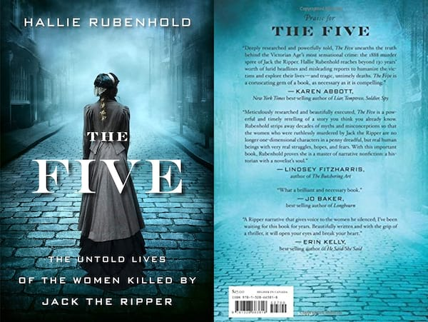books about serial killers, cover of the five by hallie rubenhold, books