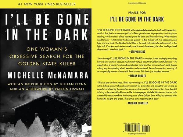 books about serial killers, cover of i'll be gone in the dark by michelle mcnamara, books
